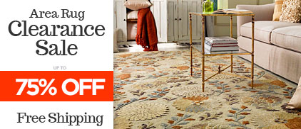 Area Rug Clearance Sale - Up to 75% Off