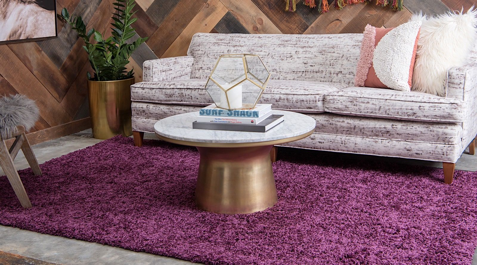 Rugpal Sybil Solid Striped Area Rug Collection Rugpal