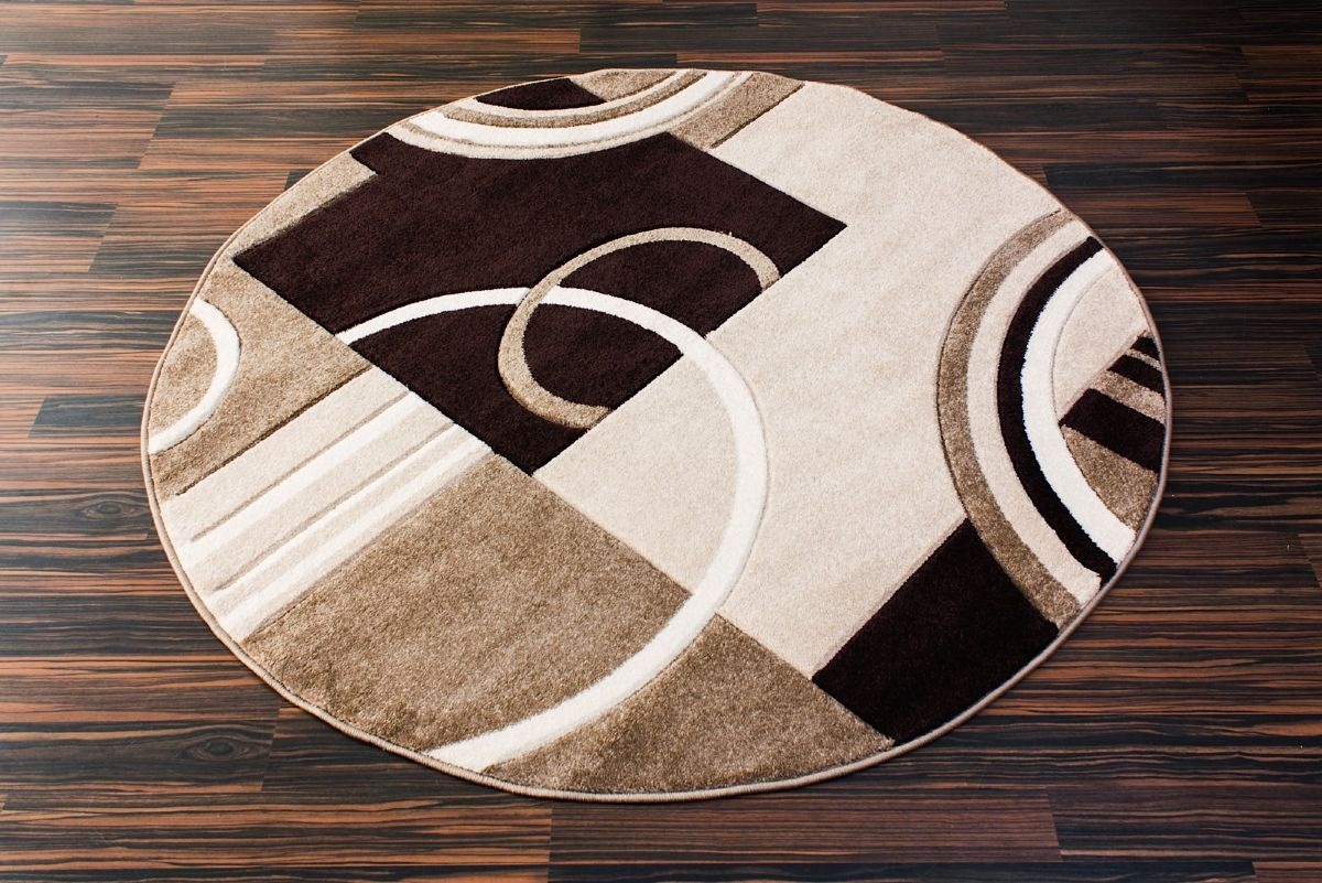 Well woven ruby galaxy waves contemporary area rug for Modern round area rugs