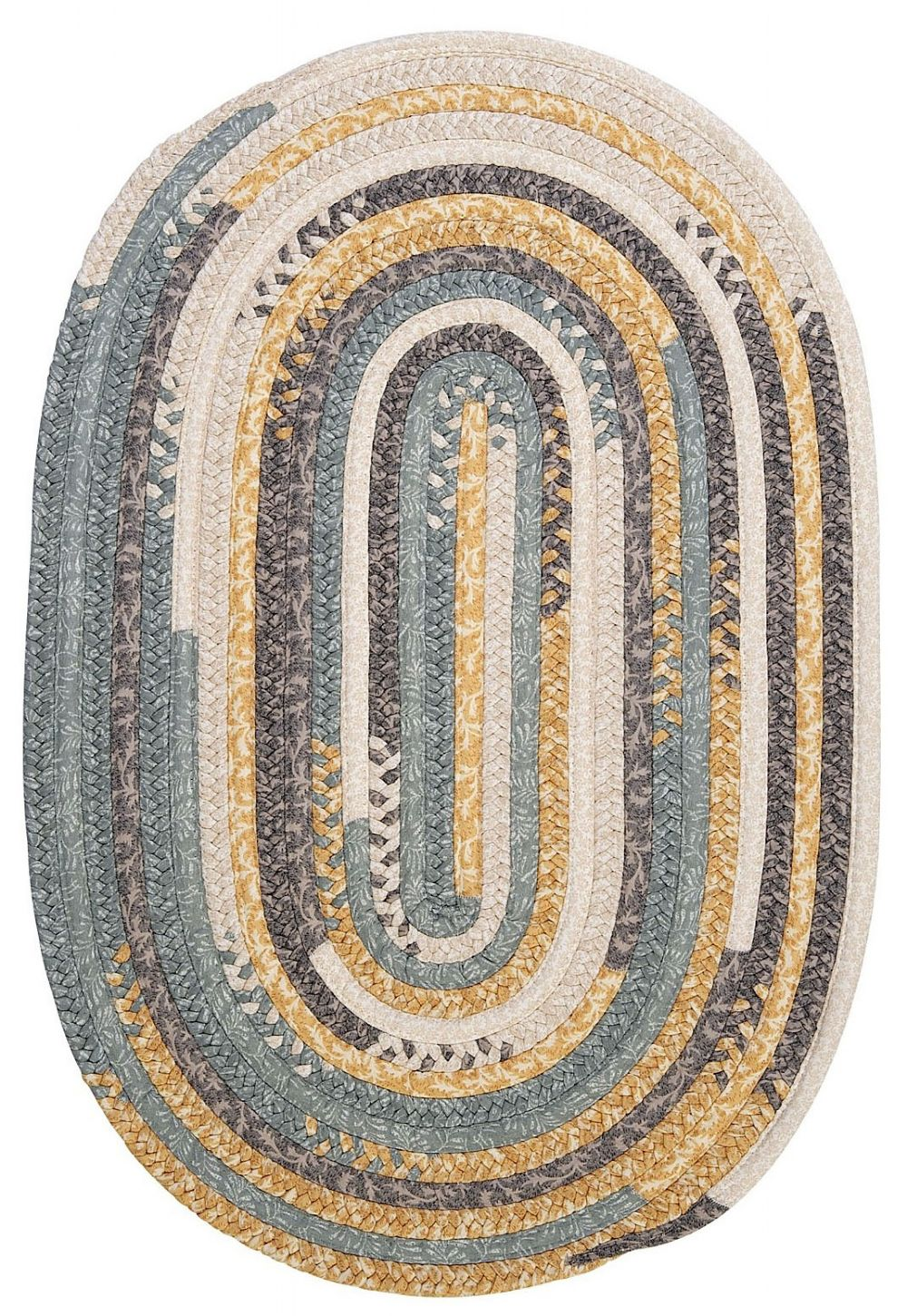 colonial mills print party - rects braided area rug collection