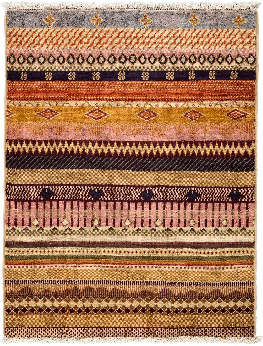 darya tribal solid/striped area rug collection
