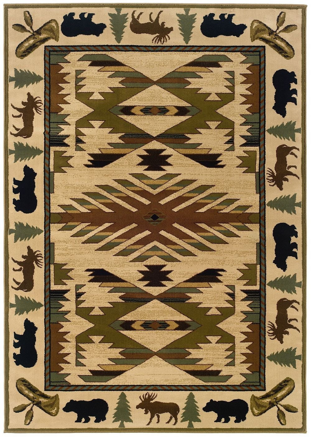oriental weavers hudson southwestern/lodge area rug collection