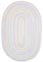 Colonial Mills Braided Ticking Stripe Oval Area Rug Collection