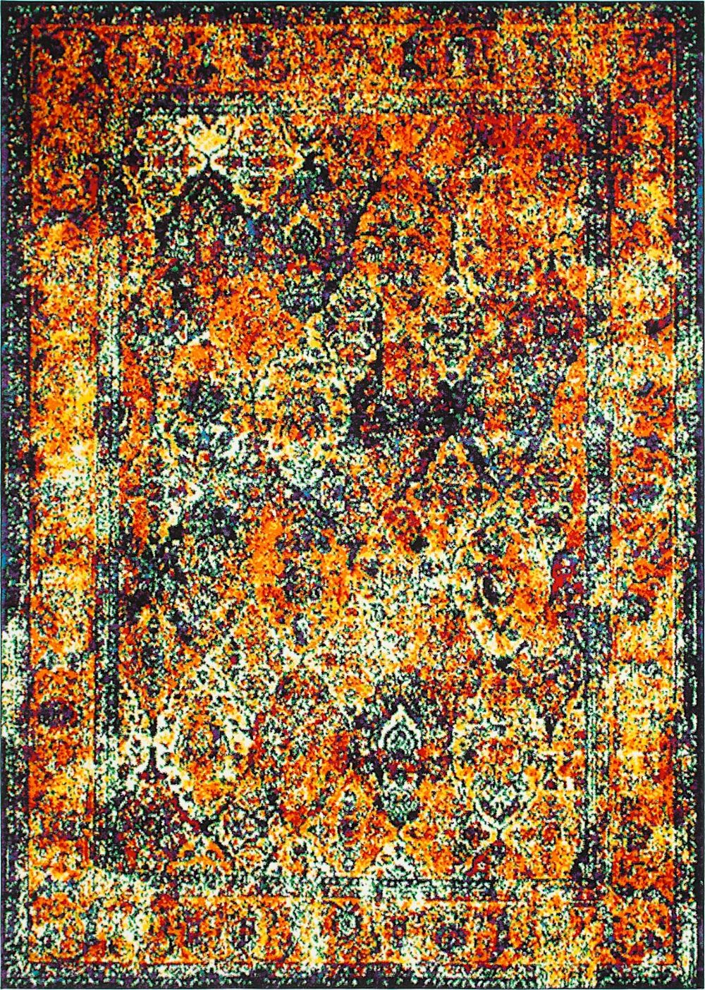 unique loom rosso transitional area rug collection
