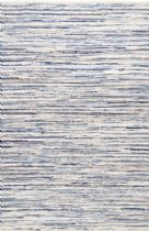 NuLoom Solid/Striped Faded Demin Stripe Area Rug Collection