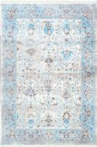 NuLoom Country & Floral Lasandra Ashen Fringe Area Rug Collection