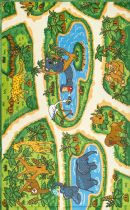 NuLoom Novelty Galen Zoo Animals Printed Area Rug Collection