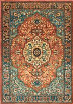 NuLoom Traditional Floral Medallion Pearlie Area Rug Collection