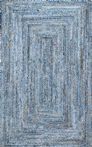 NuLoom Braided Otelia Denim And Jute Area Rug Collection