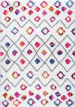 NuLoom Contemporary Tatyana Moroccan Diamond Trellis Shaggy Area Rug Collection