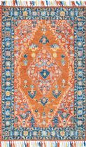 NuLoom Traditional Sharyl Tropical Floret Tassel Area Rug Collection