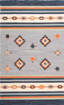 NuLoom Contemporary Ombre Diamond Leather Area Rug Collection