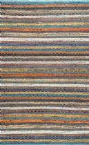 NuLoom Solid/Striped Morri Basketweave Area Rug Collection