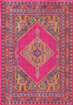 NuLoom Traditional Vintage Bordered Medallion Adame Area Rug Collection