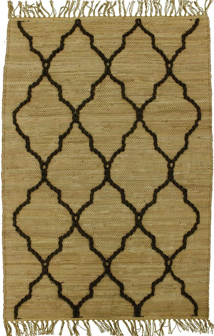 homespice decor trellis fawn contemporary area rug collection