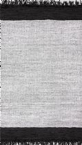 NuLoom Solid/Striped Wyra Solid Leather Tassel Area Rug Collection
