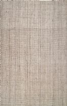 NuLoom Solid/Striped Ashli Solid Jute Area Rug Collection