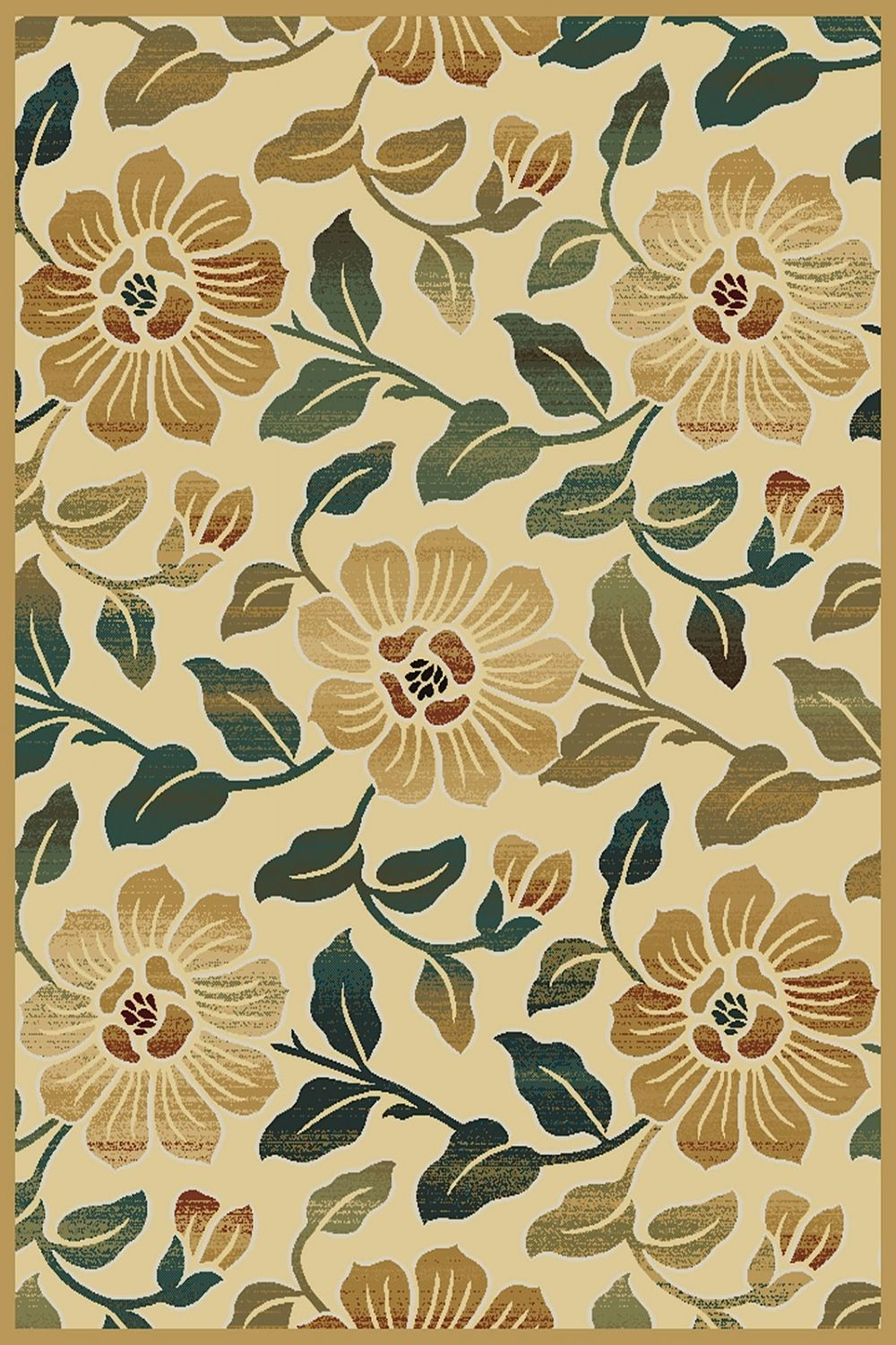 central oriental paige country & floral area rug collection