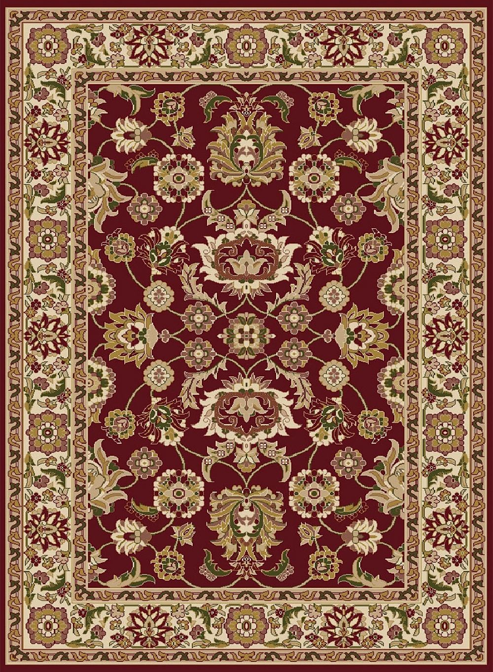 central oriental gallery 4-piece sets (18x3, 110x611, 45x611, 67x96) traditional area rug collection