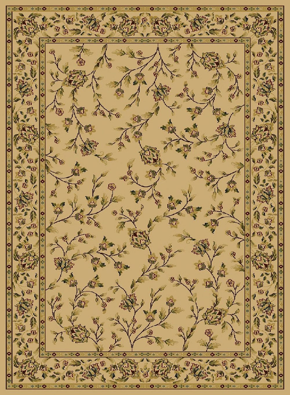 central oriental gallery 4-piece sets (18x3, 2x77, 5x73, 76x96) transitional area rug collection