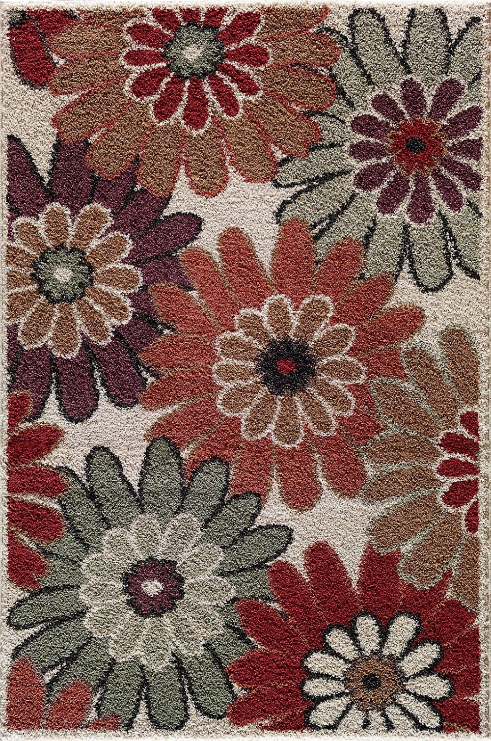 central oriental tacoma country & floral area rug collection