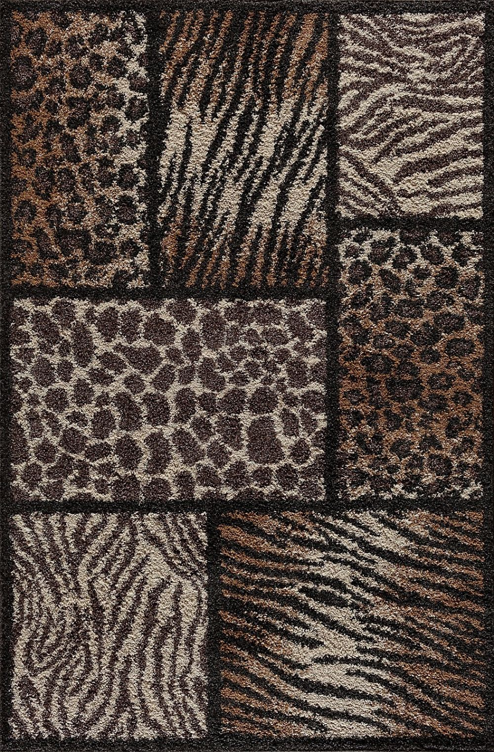 central oriental tacoma animal inspirations area rug collection