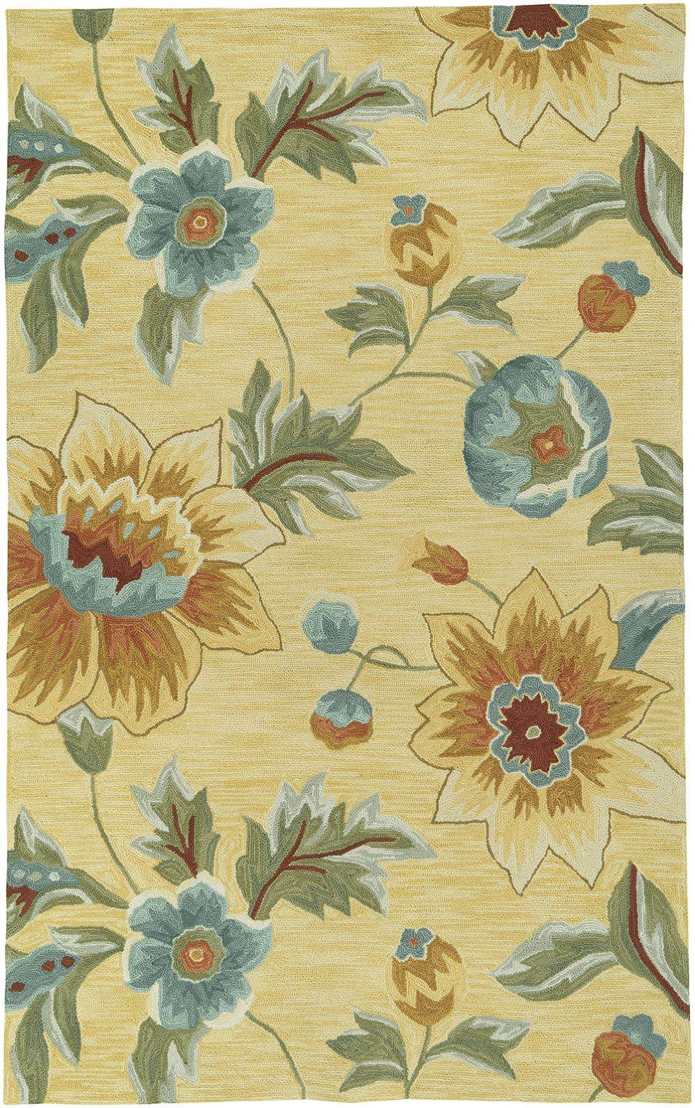 lr resources enchant country & floral area rug collection