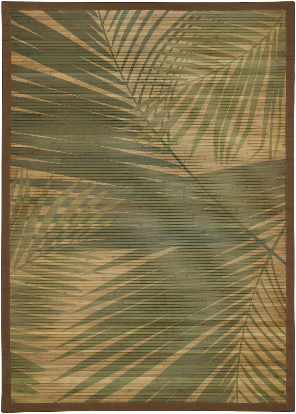 lr resources printed palm tree natural fiber area rug collection
