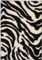 Well Woven Animal Inspirations Madison Shag Safari Zebra Area Rug Collection