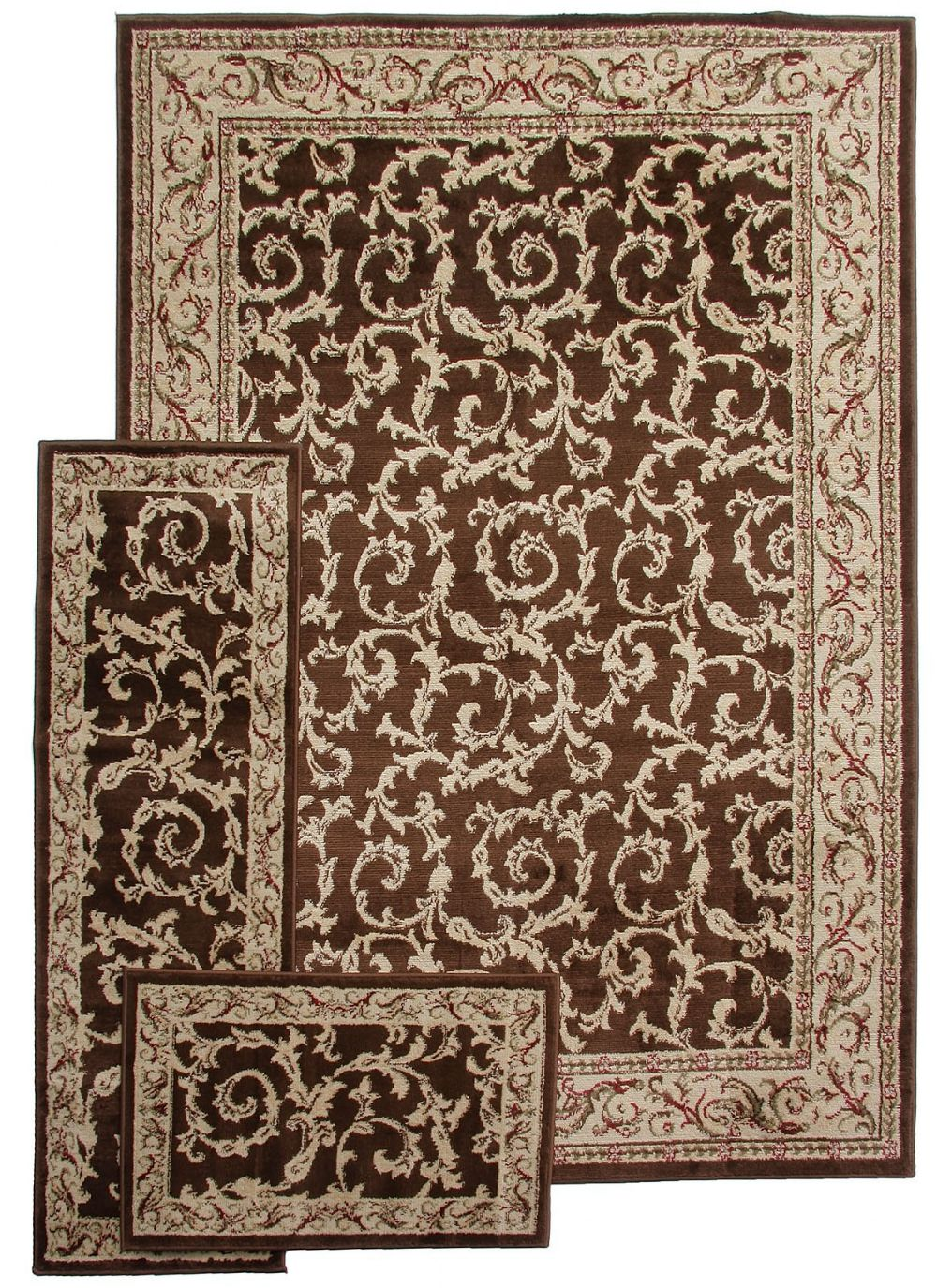 well woven breathless desire 3 pc set (5x7, 1.10x5, 1.8x2.7) traditional area rug collection