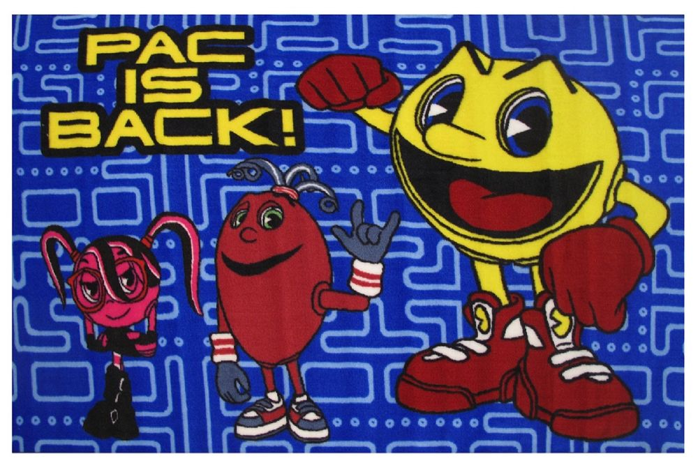 fun rugs pac-man kids area rug collection