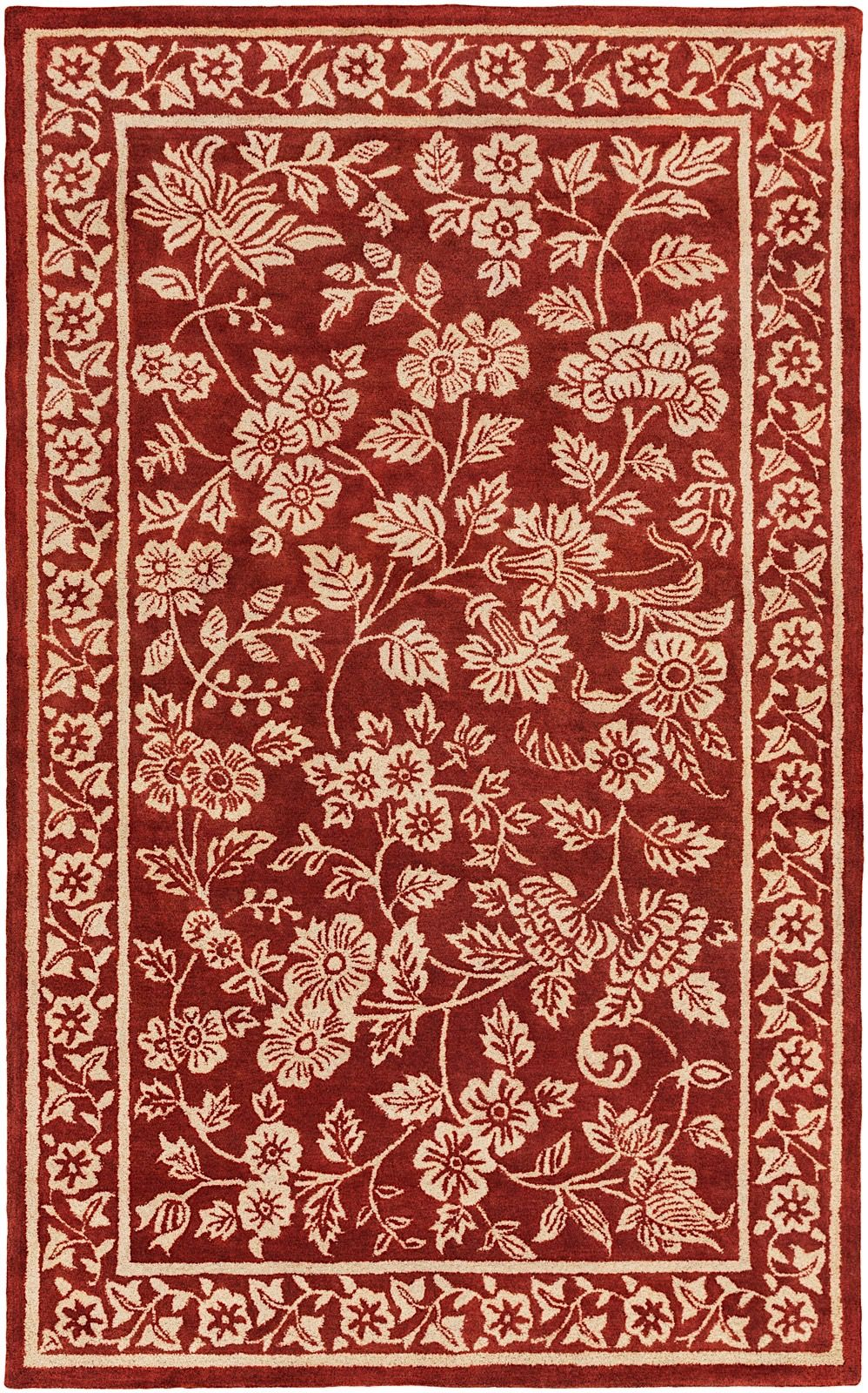 surya smithsonian country & floral area rug collection