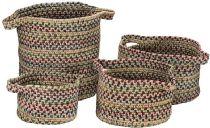 Colonial Mills Braided American Farmhouse Vintage 4 Piece Set (10x10x7, 13x13x9, 14x14x16, 16x16x10) basket Collection