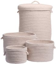 Colonial Mills Braided Dre Braided Wool 4 Piece Set (10x10x7, 12x12x9, 14x14x10, 16x16x20) basket Collection