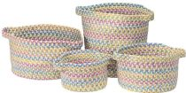 Colonial Mills Braided Kids Space 4 Piece Set (10x10x7, 13x13x9, 16x16x10, 14x14x16) basket Collection