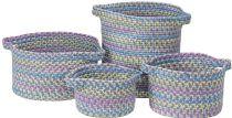 Colonial Mills Braided Kids Space 4 Piece Set (10x10x7, 13x13x9, 16x16x10, 14x14x16) basket Collection