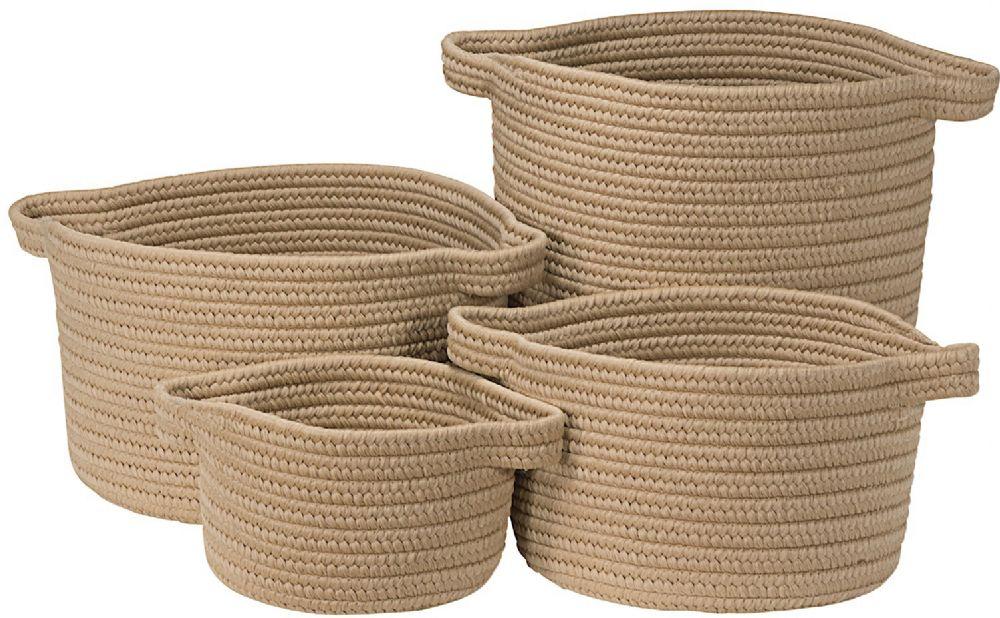 colonial mills american farmhouse vintage 4 piece set (10x10x7, 13x13x9, 14x14x16, 16x16x10) braided basket collection