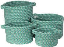 Colonial Mills Braided Homestead 4 Piece Set (10x10x7, 13x13x9, 15x15x18, 16x16x10) basket Collection