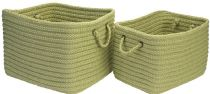 Colonial Mills Braided Modern Farmhouse Braided Mudroom 2 Piece Set (12x10x8, 16x12x10) basket Collection