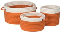 Colonial Mills Braided Poolboy 3-Piece Indoor Outdoor Set (10x10x10, 12x12x8, 16x16x10) basket Collection