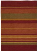 Calvin Klein Contemporary Plateau Sumac Bands Area Rug Collection