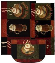 Mohawk Contemporary New Wave Caffe Latte Primary Set of 3 (20x45, 30x46, 18x30 Slice) Area Rug Collection