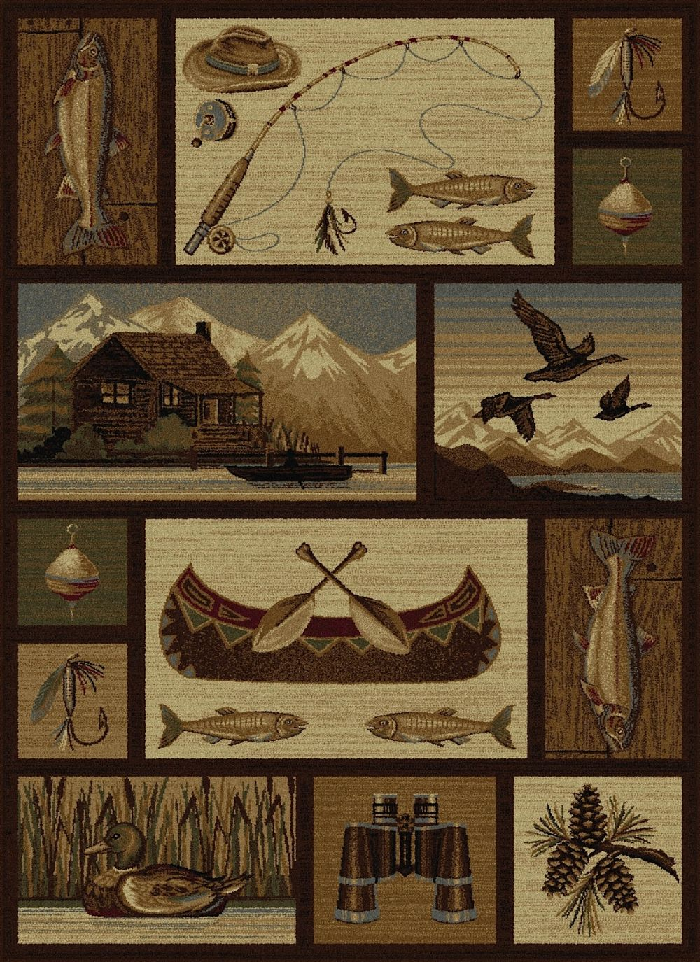 tayse nature southwestern/lodge area rug collection