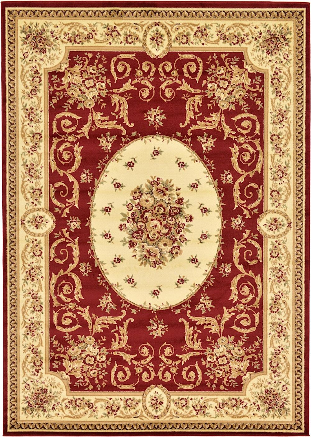 unique loom versailles traditional area rug collection