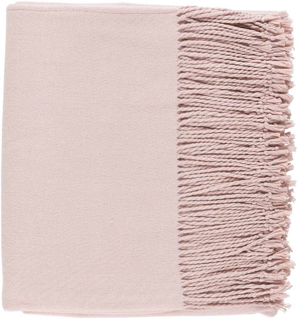 surya chantel solid/striped throw collection
