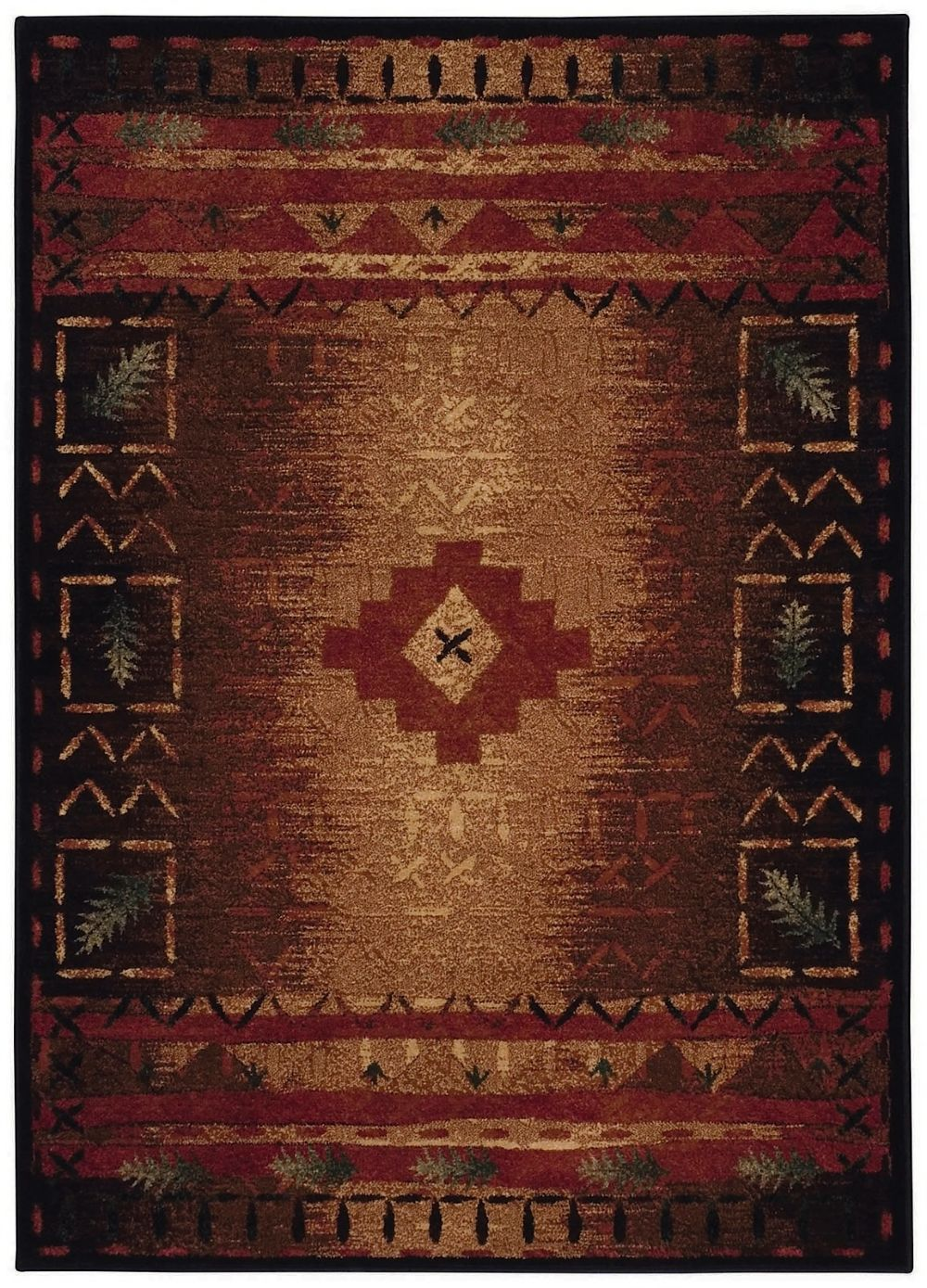 capel badin southwestern/lodge area rug collection