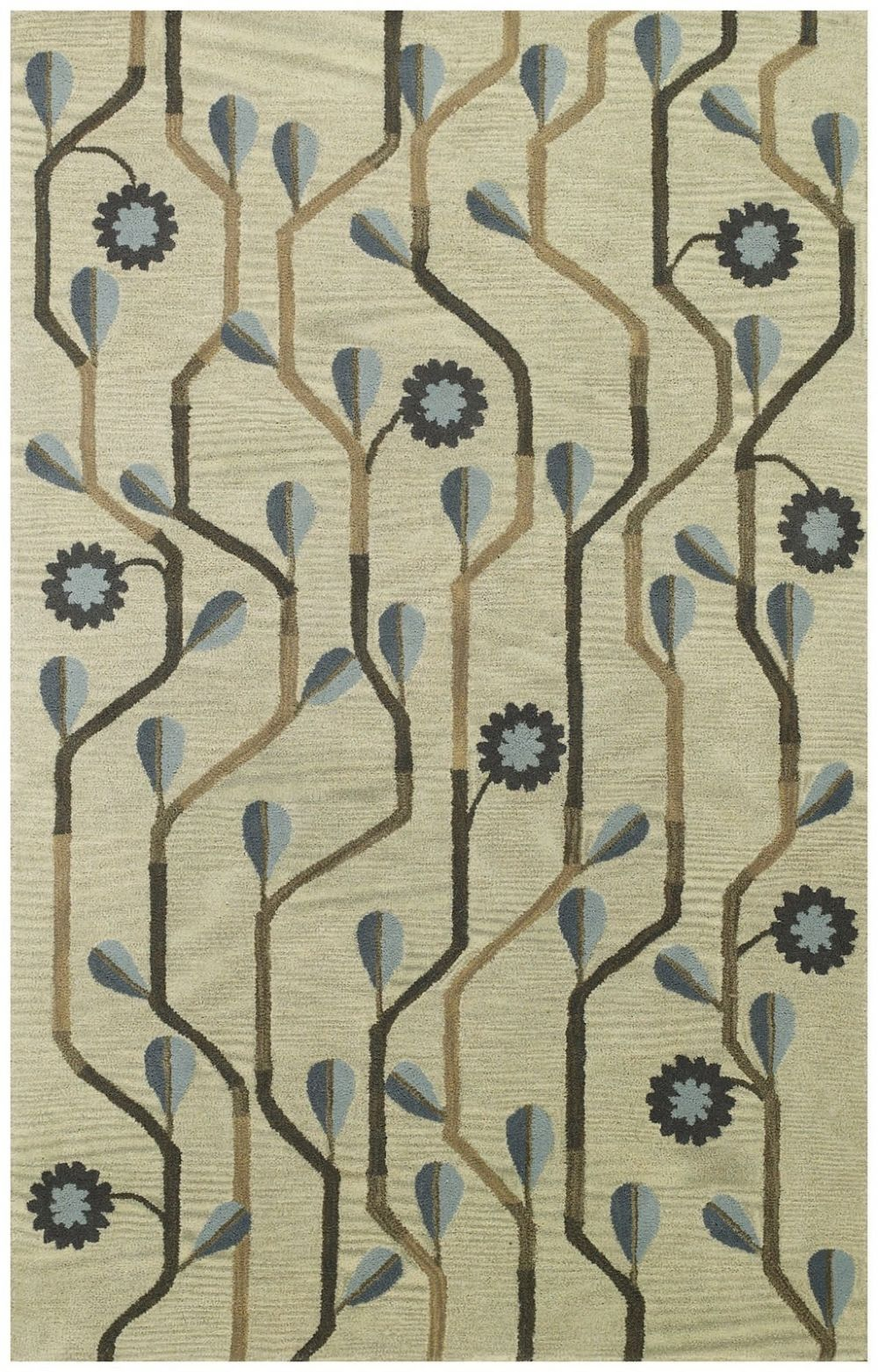 capel blue bell twining contemporary area rug collection