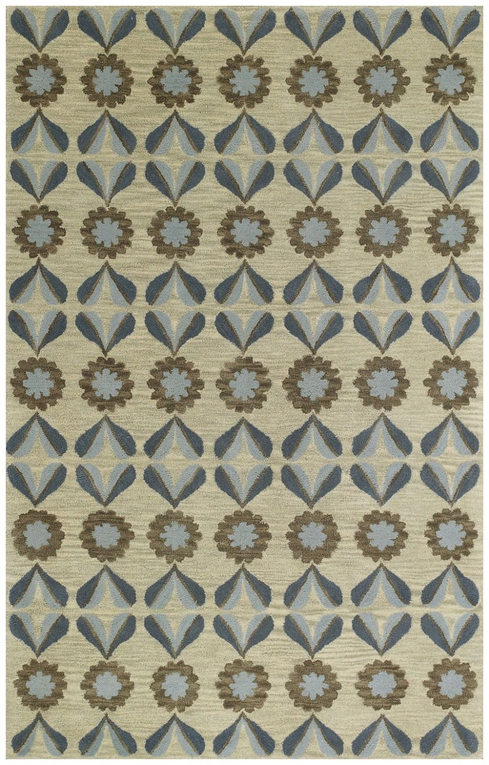 capel blue bell leaf contemporary area rug collection