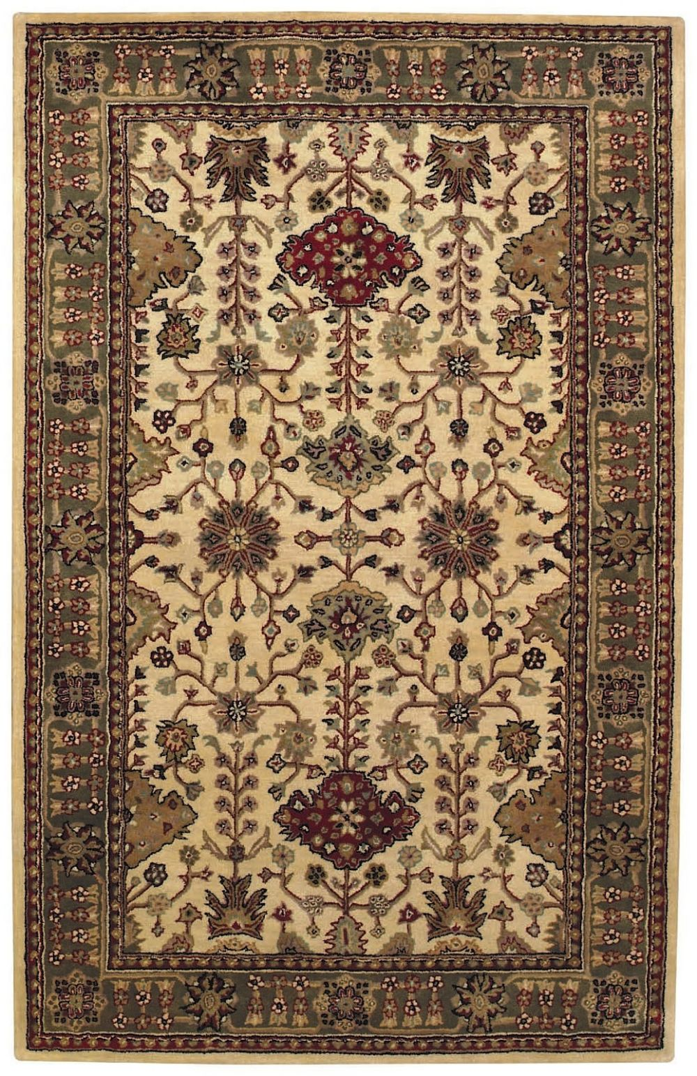 capel piedmont-ushak transitional area rug collection