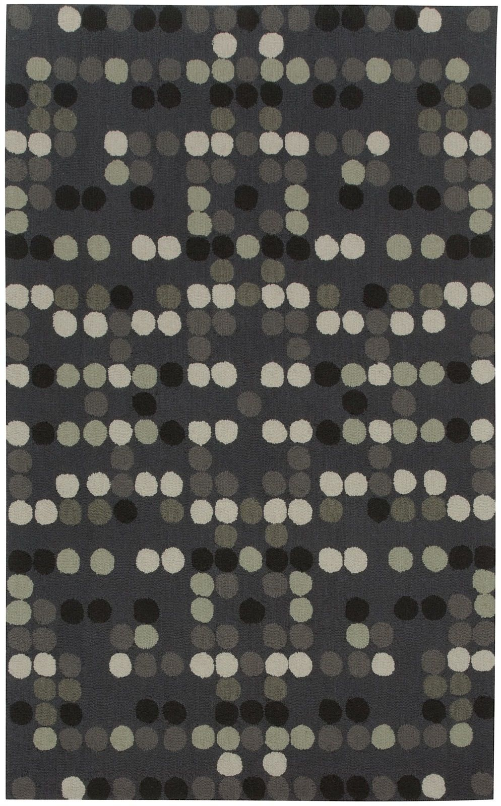 capel charcoal-dot contemporary area rug collection
